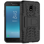 Dual Layer Rugged Tough Case for Samsung Galaxy J2 Pro (2018) - Black